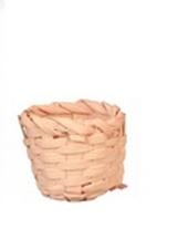 Мини корзинка без ручки, окрашенная, 2 см, кукольная миниатюра 1:12 (Dollhouse), Dollsmini арт. 01.0998/3 (mm)