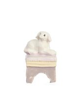 МИНИ для детской, оттоманка с собачкой, 2,5 см, керамика, кукольная миниатюра 1:12 (Dollhouse), Premium арт. MA9208 (mm)