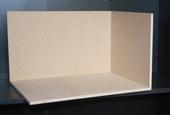 Румбокс 3 стены, МДФ 8 мм, 23,7*38,5*28,5 см (В*Ш*Г), вес 1,7 кг, правый, миниатюра 1:12 (Dollhouse) арт. RB-03R (dh)